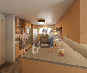3-D rendering of kitchen